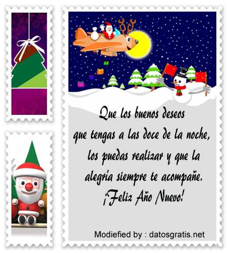 Mensajes de a o nuevo tarjetas de a o nuevo - Mensajes bonitos de navidad y ano nuevo ...