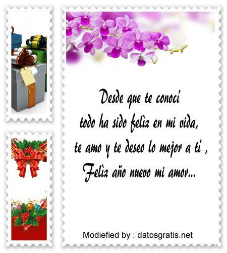 mensajes para enviar en año nuevo a mi novio, poemas para enviar en año nuevo a mi novio