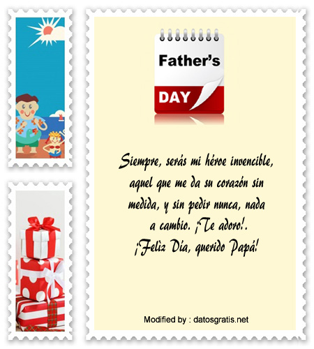 sms para el dia del Padre,textos para el dia del Padre