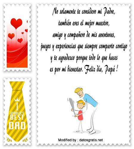 mensajes de texto para el dia del Padre,palabras para el dia del Padre