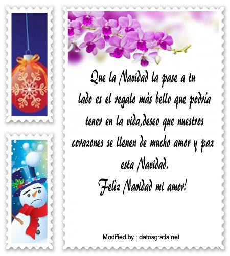 mensajes para enviar en Navidad a mi novia, poemas para enviar en Navidad a mi novia