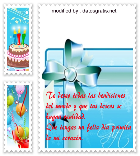 mensajes cumpleaños gratis para mandar a mi primita,bonitos saludos de cumpleaños con imàgenes para una prima