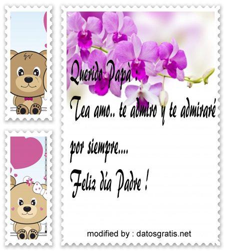 tarjetas bonitas con palabras por el día del Padre para mi Papito