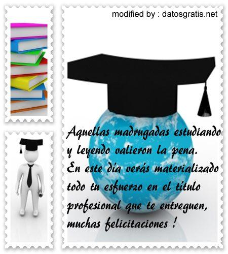 originales frases de felicitación por graduación