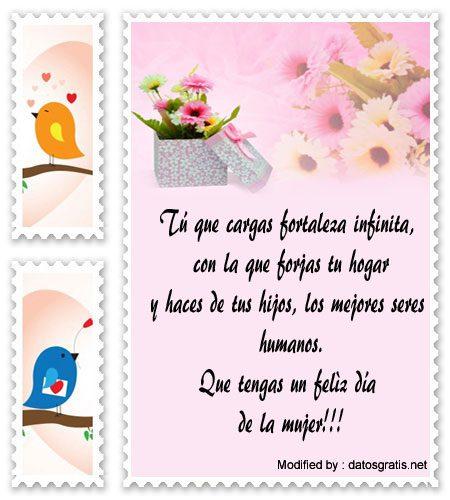 descargar mensajes bonitos para el dia de la Mujer,mensajes de texto para el dia de la Mujer