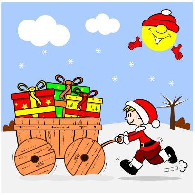 Saludos de Navidad para nuestros hijos