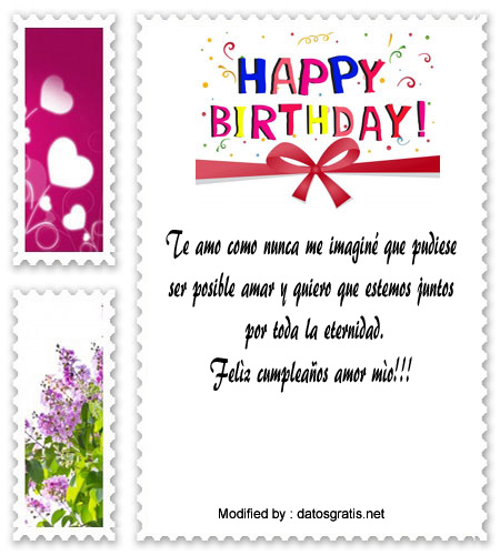 sms de cumpleaños para mi novia,textos de feliz cumpleaños