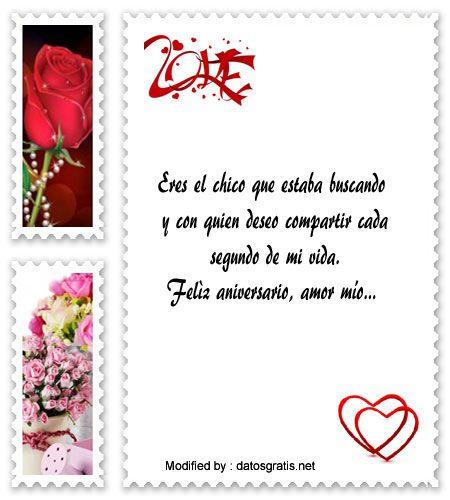 Frases Muy Bonitas Para Aniversario De Novios Tarjetas De Amor