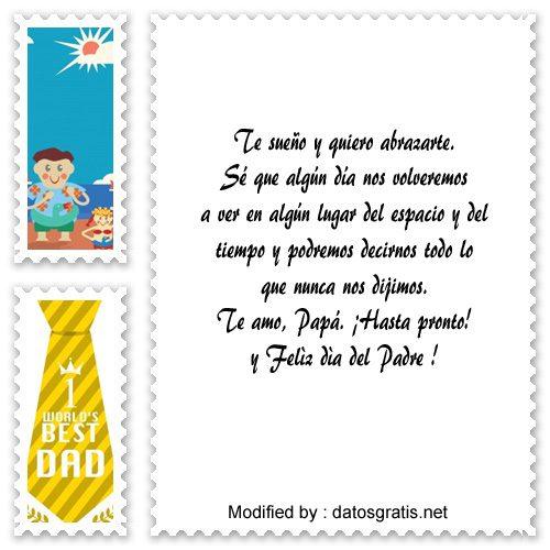 Tarjetas Con Frases Por El Dia Del Padre Para El Papà Que Ya