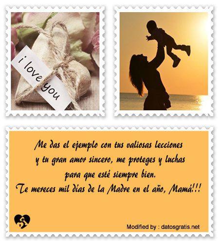 Mensajes Y Palabras Bonitas Para Mi Madre En Su Dia Dia De La