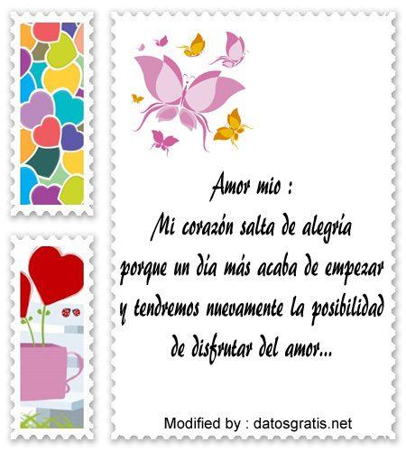 pareja postales de buenos dias amor mio