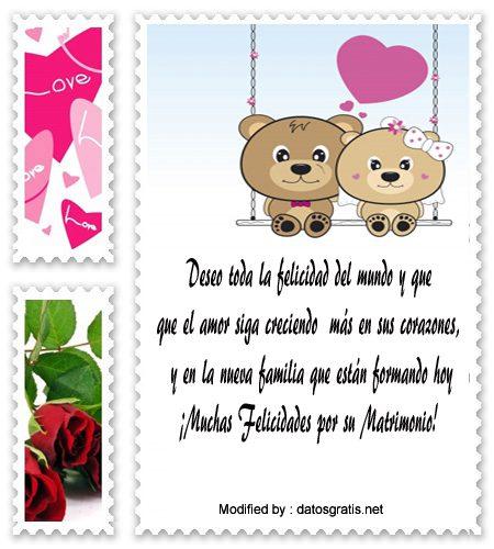 7233c3dcfce0 Lindos Mensajes Para Novios Por Su Matrimonio