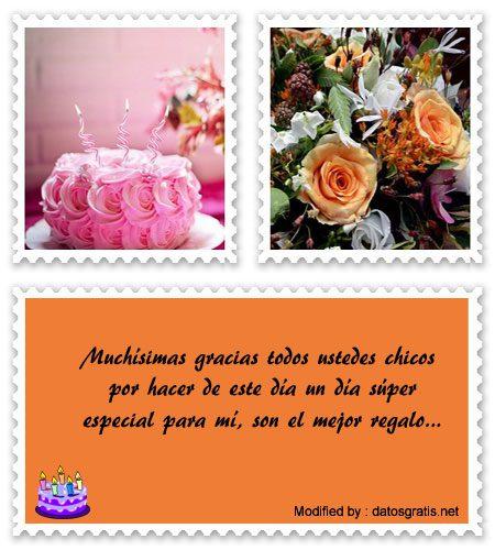 Frases Para Agradecer Saludos De Cumpleaños Agradecimiento