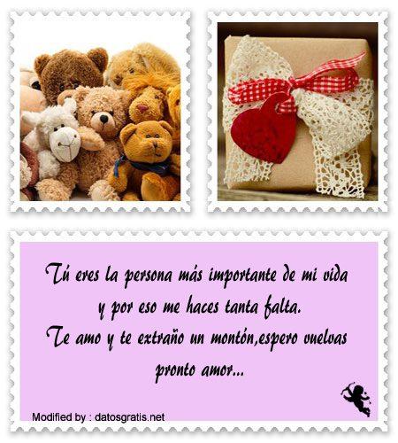 Maravillosos Mensajes De Te Extraño Frases De Amor Datosgratisnet