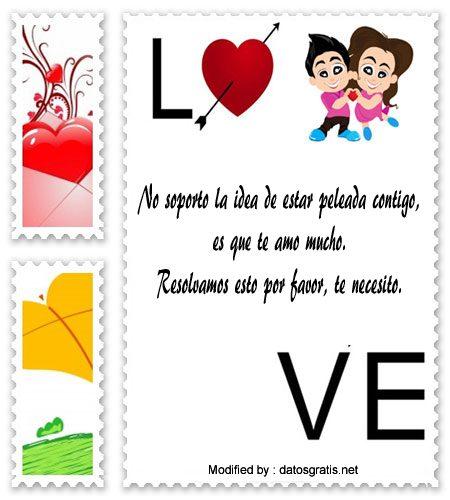 Mensajes De Amor Para Mi Novio Molesto Frases De Perdon