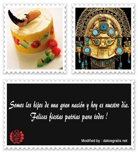 Bonitos Saludos De Fiestas Patrias Perù Para Facebook