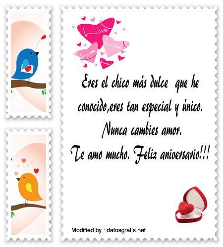 mensajes bonitos de aniversario de noviosmensajes de aniversario de novios