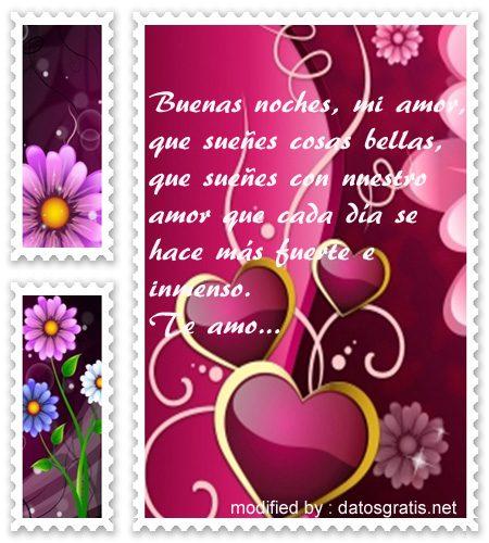 Postales Bonitas Con Textos De Buenas Noches Para Mi Pareja