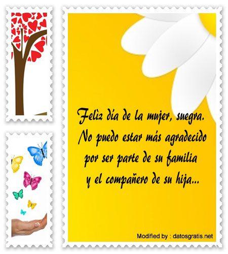 Bellas Frases De Feliz Día De La Mujer A Mi Suegra Saludos