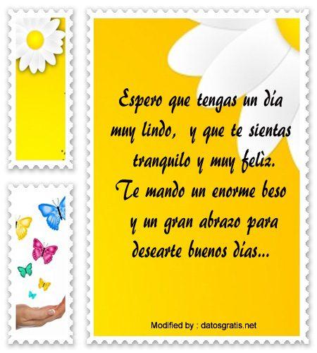 Lindos Mensajes De Buenos Dias Para Mi Novio Frases De Buenos Dias