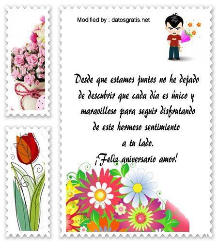 Bonitos Mensajes De Aniversario Para Mi Novia Frases De