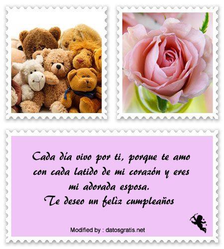 Nuevos Mensajes De Cumpleaños Para Mi Esposa | Saludos De ...
